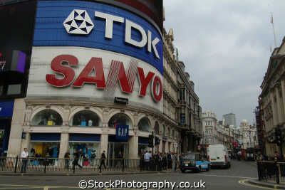 shaftsbury avenue picadilly circus daytime piccadilly famous sights london capital england english uk tdk sanyo theatre westminster cockney great britain united kingdom british