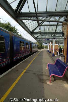 west anglia great northern railway wagn train hertford station trains railways rail railroads transport transportation uk berkshire england english britain united kingdom british