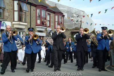 flora day helston. brass band leisure uk helston cornwall cornish england english great britain united kingdom british