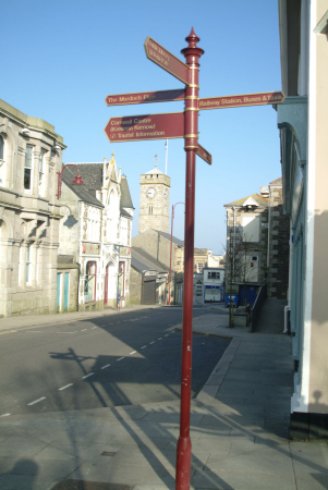 alma place redruth south west towns england southwest country english uk signpost cornwall cornish great britain united kingdom british