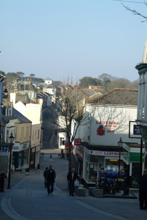 fore street redruth south west towns england southwest country english uk cornwall cornish great britain united kingdom british