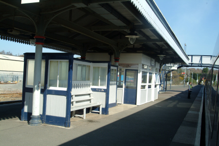 par station platform uk railway stations railways railroads transport transportation cornwall cornish england english great britain united kingdom british