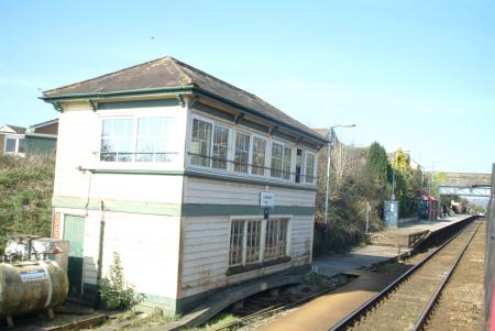 railway signal box liskeard railways railroads transport transportation uk cornwall cornish england english great britain united kingdom british