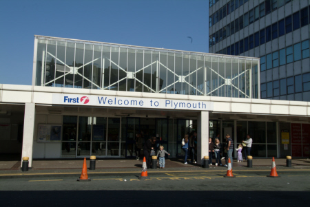 plymouth railway station entrance uk stations railways railroads transport transportation devon devonian england english great britain united kingdom british