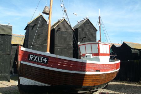 fishing boat net sheds hastings rx134 sussex home counties england english angleterre inghilterra inglaterra united kingdom british
