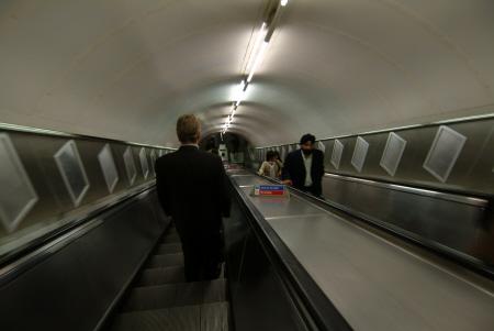 escalator tube underground metro buildings architecture london capital england english united kingdom british