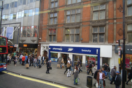 boots pharmacy oxford street london w1 famous streets capital england english united kingdom british