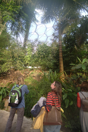 eden project people rainforest biome tourist attractions england english botanical garden attraction architectural geodesic dome cornish cornwall angleterre inghilterra inglaterra united kingdom british