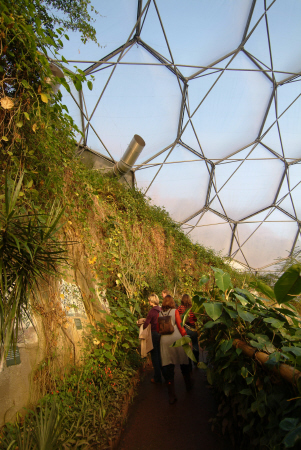 eden project rainforest biome tourist attractions england english botanical garden attraction architectural geodesic dome cornish cornwall angleterre inghilterra inglaterra united kingdom british