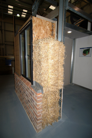cutaway straw eco wall construction building industry industrial uk business commerce united kingdom british