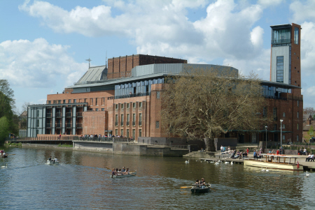 royal shakespeare theatre rsc river avon stratford warwickshire midlands england english angleterre inghilterra inglaterra united kingdom british