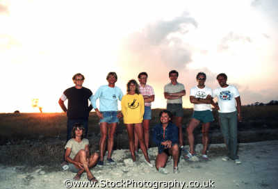 group shot sunset groups people persons twilight dusk nightfall friends cyprus europe european cypriot
