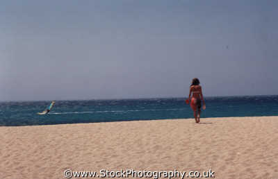 beach girl windsurfer watersports aquatic sports sporting uk water mykonos greek island dodcanese islands greece europe european