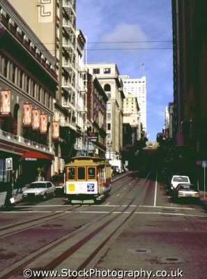 san francisco tram trams streetcar travel trolley franciscan california californian usa united states america american