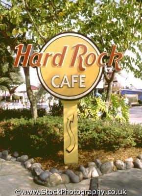 hard rock cafe sign florida american yankee travel franchise burger orlando usa united states america