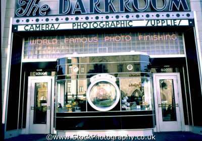 darkroom camera store window florida american yankee travel shop photographic orlando usa united states america