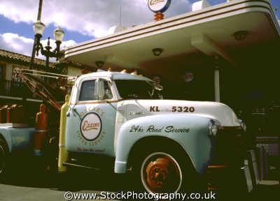 exxon truck gas station travel orlando florida usa united states america american