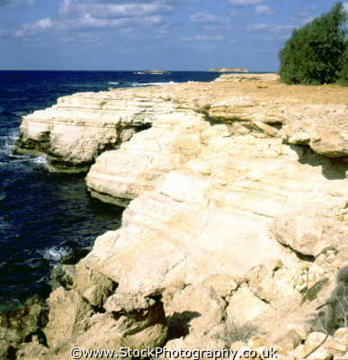 coastal cliffs geology geological science misc. beach strand cyprus europe european cypriot