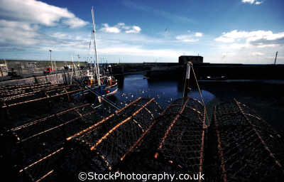 lobster pots scottish harbor agriculture farming natural history nature misc. fishing conservation borders scotland scotch scots escocia schottland united kingdom british