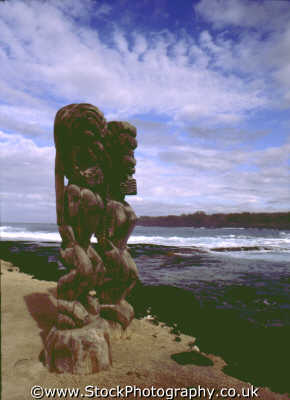 tribal wood carvings hawaii pacific travel statue volcanic usa united states america american
