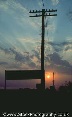 sunset sign telegraph poles sunsets dusk travel twilight nightfall cyprus europe european cypriot