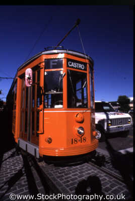 tram san francisco trams streetcar travel trolley transportation franciscan california californian usa united states america american