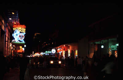 bourbon street night time new orleans american yankee travel big easy louisiana southern state usa united states america