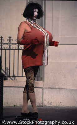 transvestite big tits street performers buskers arts misc. gay brassy queen new orleans easy louisiana southern state usa united states america american