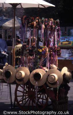 hatstand market stall abstracts misc. headgear cap sombrero la los angeles california californian usa united states america american
