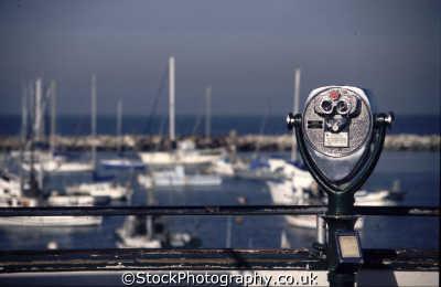 spyglass binoculars harbor marine misc. monterey california californian usa united states america american