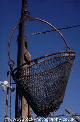 fishing landing net harbor marine misc. monterey california californian usa united states america american