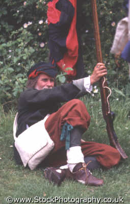foot soldier infantry rifle rest civil war historical britain history science misc. english enactment middlesex middx england angleterre inghilterra inglaterra united kingdom british