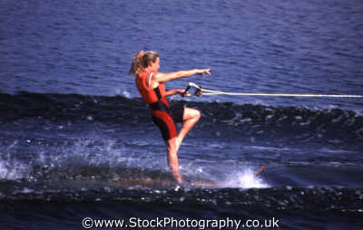 waterskiing girl watersports aquatic sports sporting uk grace poise confidence speed balance sea world orlando florida usa united states america american
