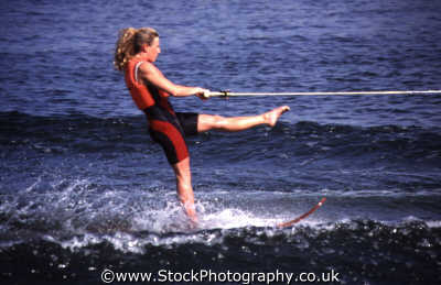 waterskiing girl posing watersports aquatic sports sporting uk grace poise confidence speed balance sea world orlando florida usa united states america american