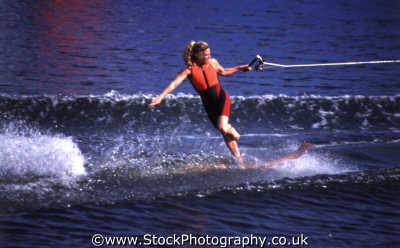 waterskiing girl pose watersports aquatic sports sporting uk grace poise confidence speed balance sea world orlando florida usa united states america american