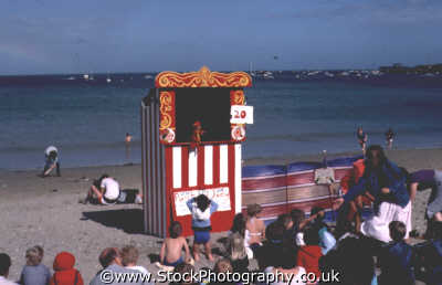 punch judy beach seaside street performers buskers arts misc. kids puppets tradition viscous pastimes story teller united kingdom british