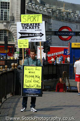man wearing sandwich board piccadilly circus famous sights london capital england english uk advertising advertisement westminster cockney angleterre inghilterra inglaterra united kingdom british