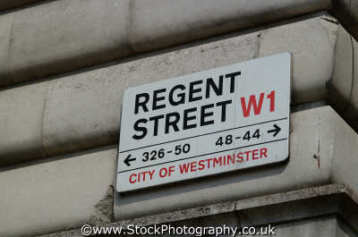 regent street w1 road sign london capital england english uk westminster cockney angleterre inghilterra inglaterra united kingdom british