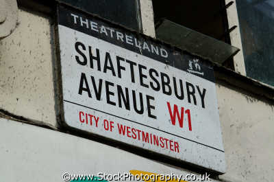 shaftesbury avenue w1 road sign street signs famous streets london capital england english uk theatreland westminster cockney angleterre inghilterra inglaterra united kingdom british