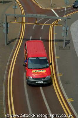 double yellow lines red van motoring driving motor cars automobiles transport transportation uk parking london cockney england english angleterre inghilterra inglaterra united kingdom british