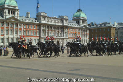 horseguards black uniforms riding formation soldiers british army armies uk military militaries cavalry pagent ceremony ceremonial westminster london cockney england english angleterre inghilterra inglaterra united kingdom