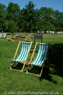 deckchairs park leisure uk sunny relaxation westminster london cockney england english angleterre inghilterra inglaterra united kingdom british