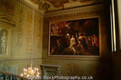hallway kings apartments hampton court royal palaces royalty stately homes british architecture architectural buildings uk oil painting master richmond london cockney england english angleterre inghilterra inglaterra united kingdom