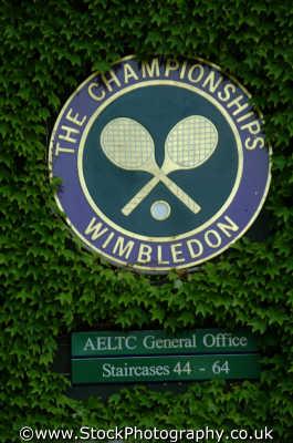 wimbledon championships logo ivy tennis sports sporting uk lawn raquet balls merton london cockney england english angleterre inghilterra inglaterra united kingdom british