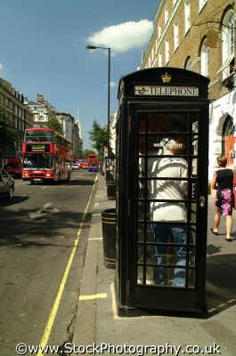 black phone box baker st british telecom telecommunications telephone uk media communications westminster london cockney england english angleterre inghilterra inglaterra united kingdom