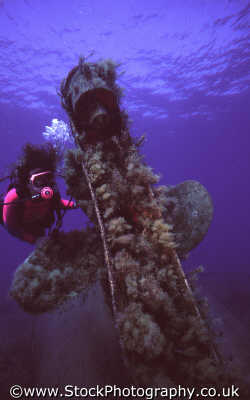 diver wreck propellor divers diving people scuba underwater marine subaqua cyprus europe european cypriot