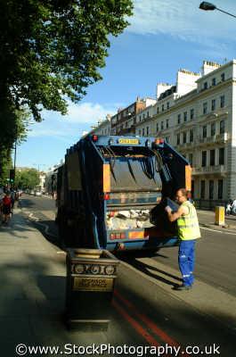 dustbin man kensington labour working people persons rubbish garbage chelsea london cockney england english angleterre inghilterra inglaterra united kingdom british