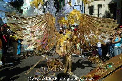 golden wings costume notting hill carnival london events capital england english uk black culture street colour color parade celebrate afro carribean party kensington chelsea cockney angleterre inghilterra inglaterra united kingdom british