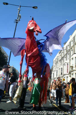 horse wings notting hill carnival london events capital england english uk black culture street colour color parade celebrate afro carribean party kensington chelsea cockney angleterre inghilterra inglaterra united kingdom british