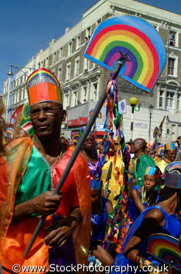 man rainbow notting hill carnival london events capital england english uk black culture street colour color parade celebrate afro carribean party kensington chelsea cockney angleterre inghilterra inglaterra united kingdom british
